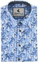 Gcm Originals regular fit overhemd korte mouw blauw, maat XXL