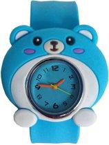Fako® - Kinderhorloge - Slap On - Muis - Blauw
