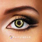 Partylenzen - Black Jungle - jaarlenzen inclusief lenzendoosje - Halloween lenzen Partylens®