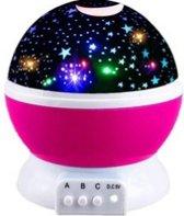 Nachtlampje Sterrenhemel verlichting kinderkamer roze - projector sterren - Snoezellampje - Kinder/baby nachtlamp -  Sterrenhemel Space Lamp roze- Star Moon Light Plafond - Roze