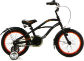 Popal Black Fighter Cruiser B1600 - Kinderfiets - 16 Inch - Jongens - Zwart
