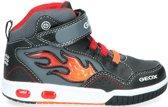 Geox - J 8447 C  - Lage sneakers - Jongens - Maat 35 - Zwart;Zwarte - C0048 -Black/Red
