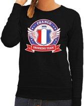Zwart France drinking team sweater dames L