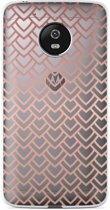 Motorola Moto G5 Plus hoesje Pink Pattern