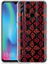 Honor 10 Lite Hoesje Red Leaves Pattern