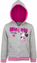 Minnie Mouse sweater met rits grijs 128
