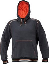 Knoxfield hooded sweater antraciet/rood XXL