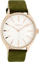 OOZOO Timepieces  C8628 Groen Wit Horloge 40mm