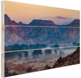Woestijngebied Midden-Oosten Hout 120x80 cm - Foto print op Hout (Wanddecoratie)