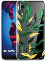 Huawei P20 Hoesje Watercolor Flowers