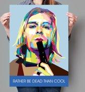 Poster WPAP Pop Art Kurt Cobain - Nirvana
