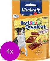Vitakraft Beefstick Quadros Kaas - Hond - Snack - 4 x 70 gr