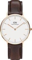 Daniel Wellington Classic Bristol DW00100039  - Horloge - Leer - Bruin - Ø 36 mm