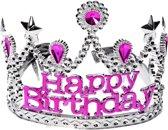Happy Birthday kroon voor meisjes - Verkleedattribuut