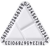 Design Letters Melamine Triangle Snack Plate