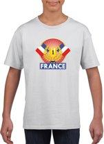 Wit Frans kampioen t-shirt kinderen - Frankrijk supporter shirt jongens en meisjes S (122-128)