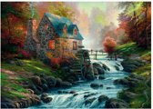 Schmidt Thomas Kinkade Near the Old Cobblestone Mill 1000
