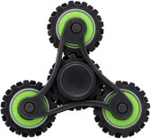 Wheel Gears Fidget Spinner Toy Stress rooducer Anti-Anxiety Toy voor Children en Adults, 4 Minutes Rotation Time,  Small Steel Beads Bearing + ABS materiaal(groen)