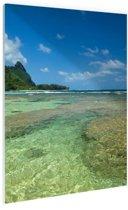 Kauai Oceanie  Glas 40x60 cm - Foto print op Glas (Plexiglas wanddecoratie)