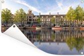 Prinsengracht in het centrum van Amsterdam Tuinposter 90x60 cm - Tuindoek / Buitencanvas / Schilderijen voor buiten (tuin decoratie)