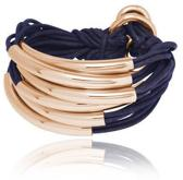 TOV Essentials - Big lots of cord tube bracelet - Rose/Navy