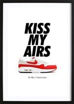 Kiss My Airs (21x29,7cm) - Tekst - Poster - Print - Wallified - Fashion - Poster - Print - Wallified
