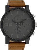 OOZOO Timepieces C10064 Bruin Grijs horloge  (48 mm) - Bruin