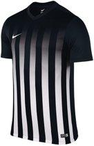 Nike Striped Division II Teamshirt Heren  Sportshirt - Maat M  - Mannen - zwart/wit/grijs
