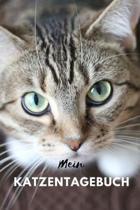 Mein Katzentagebuch: Ein cooles Notizheft, Tagebuch f�r Katzenliebhaber, Haustier Tagebuch (ca. DIN A5), 110 karierte Seiten.