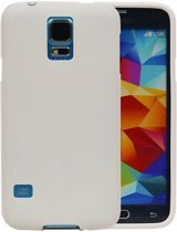 Wit Zand TPU back case cover hoesje voor Samsung Galaxy S5