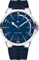 Tommy Hilfiger TH1791542 Horloge - Siliconen - Blauw - Ø 44 mm