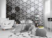 Fotobehang Vlies | Design | Grijs, Zwart 368x254cm (bxh)
