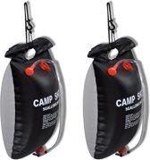 vidaXL Camping Douche Solar 20 L (2 stuks)