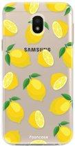FOONCASE Samsung Galaxy J3 2017 hoesje TPU Soft Case - Back Cover - Lemons / Citroen / Citroentjes
