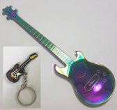 Theelepel Gitaar Multicolor RVS 2 stuks + gitaar sleutelhanger