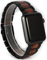 Houten apple watch bandje | Roodhout | 42/44mm EAN
