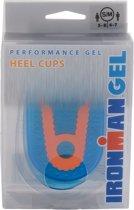 Ironman Performance Gel Hiel Cup  Inlegzolen - Maat 36-40 - blauw/oranje