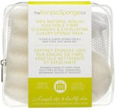 The Konjac Sponge Company Deluxe Duo Travel Pack Pure