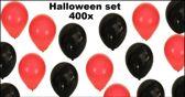 400x Halloween ballonnen rood/zwart
