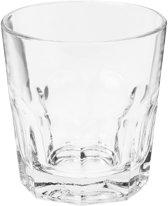 4x Drink water glazen van 250 ml - drinkglazen