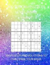 200 Sudoku Puzzles Level Hard Volume 4