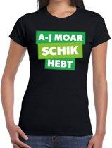 Zwarte Cross a-j moar schik hebt t-shirt - zwart Achterhoek festival shirt voor dames - zwarte cross M
