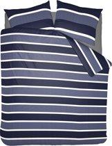 Pierre Cardin Flanel Dekbedovertrek Classic Stripe Blue-240x200/220