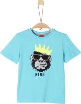 s.Oliver Jongens T-Shirt - aqua - Maat 140
