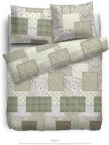 HNL Pure Cotton Finch Dekbedovertrek - Litsjumeaux - 240x200/220 cm - Groen