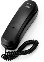 Profoon TX-105 Eenvoudige bedrade telefoon | Geschikt om neer te zetten of op te hangen | Zwart