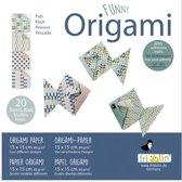Fridolin Origami Vissen Vouwen 15 X 15 Cm 20 Stuks Multicolor