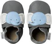 Bobux Soft Sole babyslofjes Olifant grijs  - Maat: M