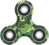 Fidget spinner / hand spinner leger groen camouflage