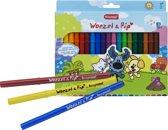 Bruynzeel Woezel & Pip   Viltstiften (20 kleuren, incl. witte wis-stift)